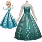 Cosplay Elsa Princess Green Version Dress Costume Cosplay Adult Women Fancy Party Halloween Dress