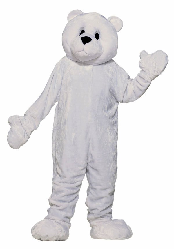 High Quality Poler Bear Mascot Cartoon Characters large size Party Dress Cosplay Costume