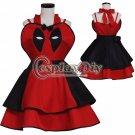 Deadpool Cosplay Dress For Women/Kids Girls Halloween Carnival Superhero Deadpool Cosplay Costume