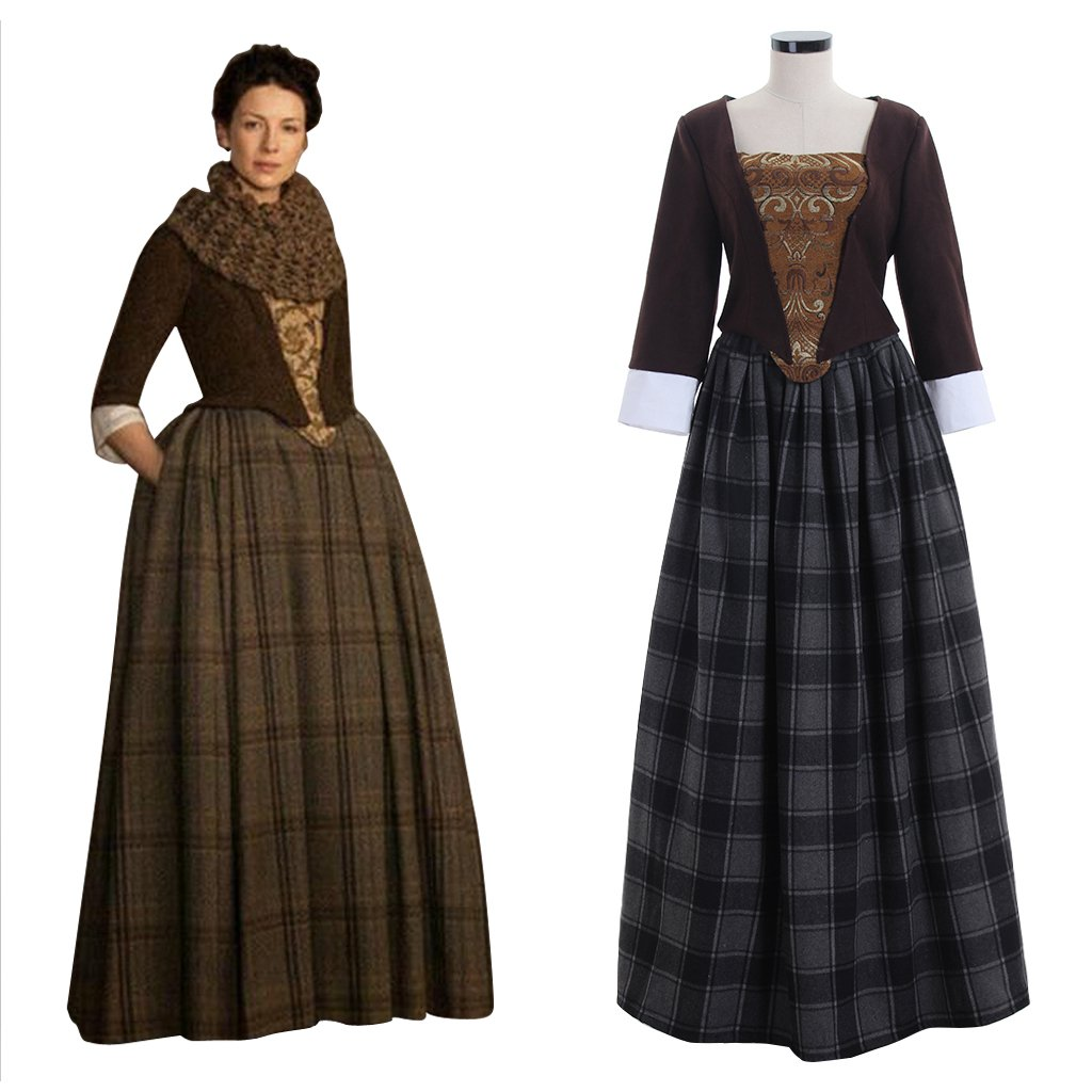 Outlander TV series Women's Costume Jenny Fraser Murray Dress Costume For Halloween Party Cosplay