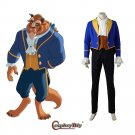Beauty and the Beast The Beast Daniel Stevens Blue Vintage Costume Cosplay