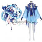 Custom Made Girls Dress Snow Miku Sky Blue Costume Dress Cosplay for Party