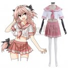 Fate Apocrypha Rider of Black Astolfo Sailor Suit Cosplay Costume Women's Cosplay Dress