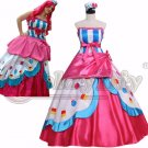 CosplayDiy Women's Dress My Little Pony Pink Dress Cosplay Costume For Halloween  Party