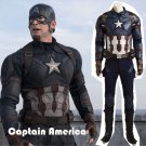 Custom Made Captain America: Civil War Captain America Cosplay Costume For Halloween Party