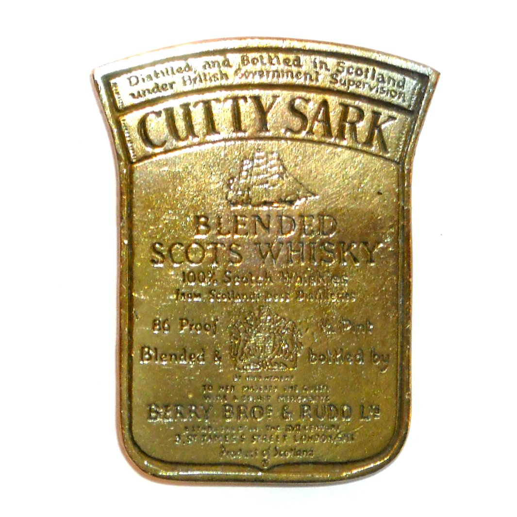 Cutty Sark London Solid Brass Vintage Gentleman Belt Buckle