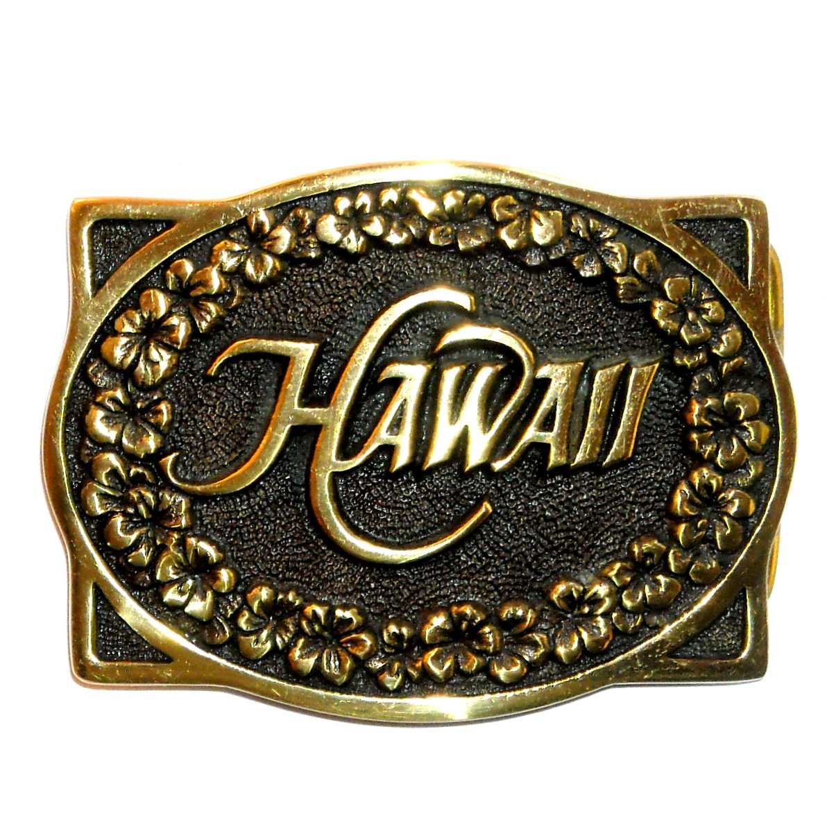 Heritage Mint Hawaii Solid Brass Vintage Belt Buckle