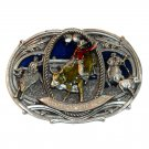 Championship Rodeo Vintage Oversized Supersized Bergamot Pewter Belt Buckle