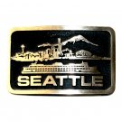 Seattle Washington Solid Bronze Vintage Belt Buckle