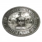 Kansas Cassoday Little Prairie Queen Vintage Pewter Belt Buckle