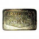 Armour Canned Meats Vintage Wyoming Studio Art Works Belt Buckle
