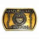 Oregon Army Guard State Seal Vintage Belt Buckle