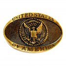 United States Of America Heritage Mint Solid Brass Vintage Belt Buckle