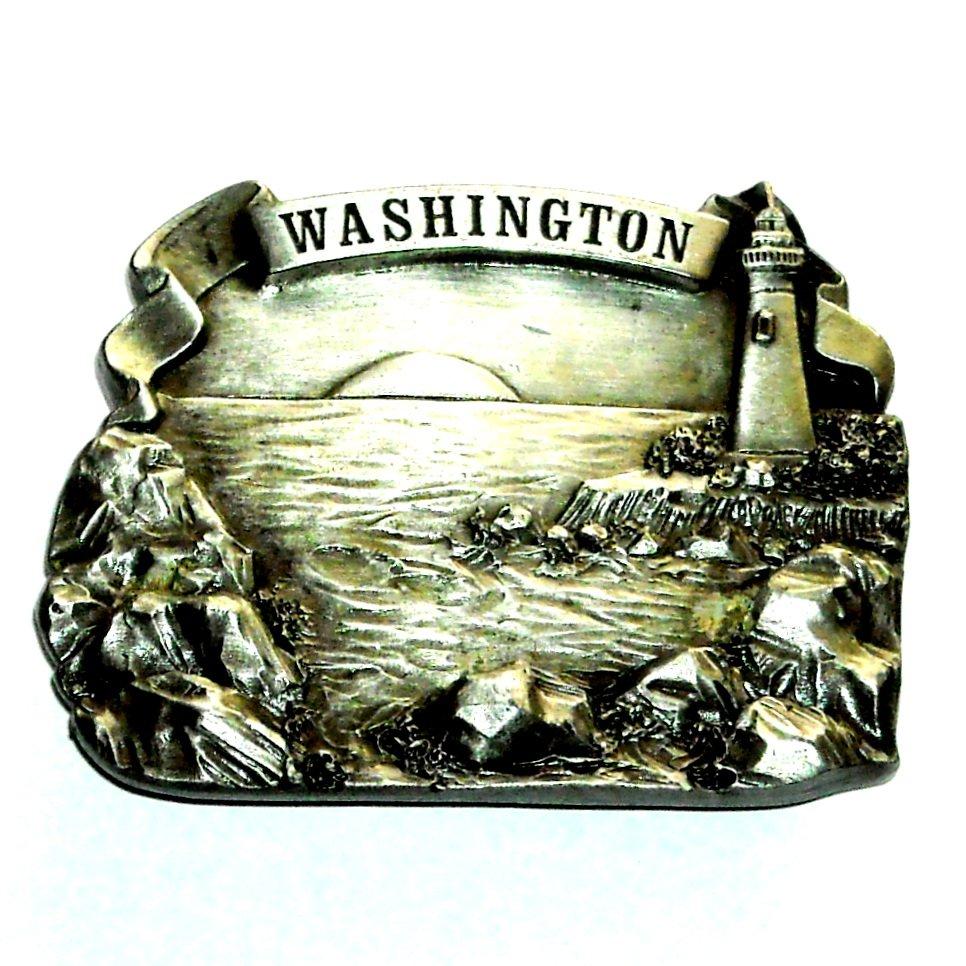 Washington Vintage Bergamot Pewter Belt Buckle