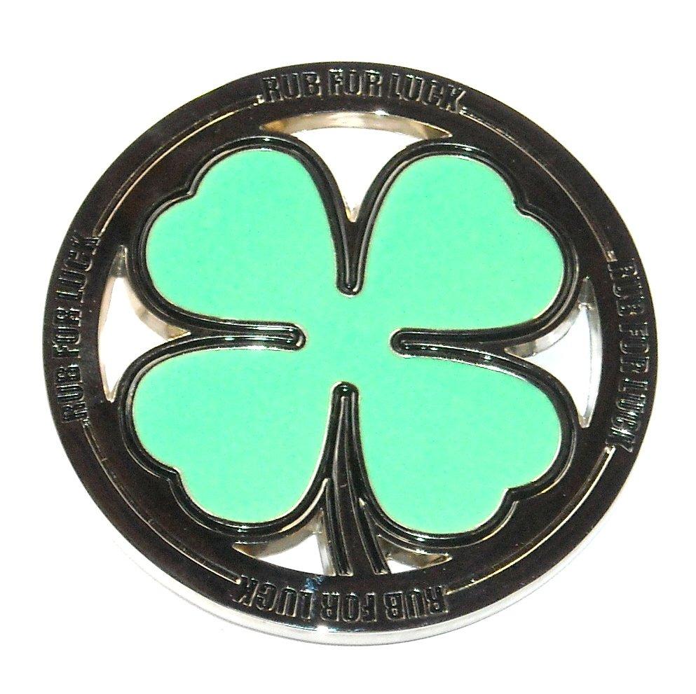 St Patricks Day 4 Leaf Shamrock Clover Adult Belt Buckle