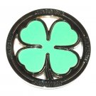 St Patricks Day 4 Leaf Shamrock Clover Adult Belt Buckle