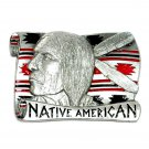 Native American Vintage Masterpiece Solid Pewter 3D Belt Buckle