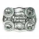 Kentucky Farmer Vintage Bryant Solid Pewter 3D Belt Buckle