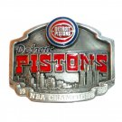 Detroit Pistons NBA Champions Vintage Official Pewter Belt Buckle