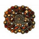 Faux Stone Beads Boho Bobo Vintage Brass Western Belt Buckle