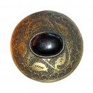 Stone Boho Bobo Vintage Large Brass Round Western Belt Buckle
