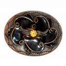 Lacquer Beads Boho Bobo Vintage Copper Western Belt Buckle