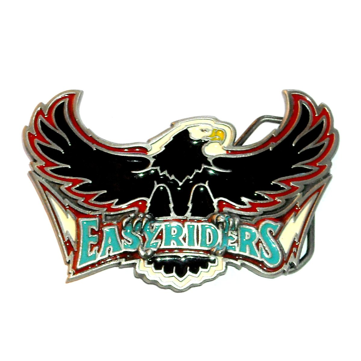 Easy Riders Vintage Great American Pewter Belt Buckle
