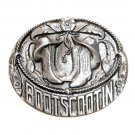 Boot Scootin Bergamot US Pewter Vintage Gentleman Belt Buckle