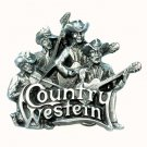 Country Western Music Band Original Bergamot 3D Pewter Belt Buckle