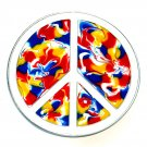 Peace Love Symbol Sign Psychedelic Colors Bergamot Belt Buckle