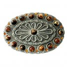 Beads Boho Bobo Vintage Pewter Western Belt Buckle