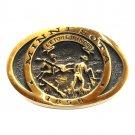 Minnesota State Star North Vintage Heritage Mint Solid Brass Belt Buckle
