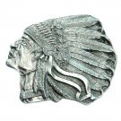 Native American Indian Chief 3D Bergamot US Pewter Belt Buckle