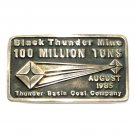 Thunder Base Mine 1985 Anacortes Brass Limited Edition 646 Belt Buckle