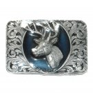Buck Stag Deer Trophy 3D Bergamot Belt Buckle