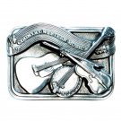 Original Country Western Music Pewter Belt Buckle