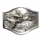 Idaho Department Fish and Game 3D Bergamot Pewter Belt Buckle