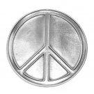 Love Peace Symbol Bergamot Pewter Belt Buckle