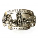 Flatlander Club 1984 3D Vintage Bergamot Pewter Belt Buckle