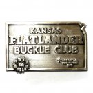 Kansas State Flatlander Club 1987 Siskiyou Pewter Belt Buckle