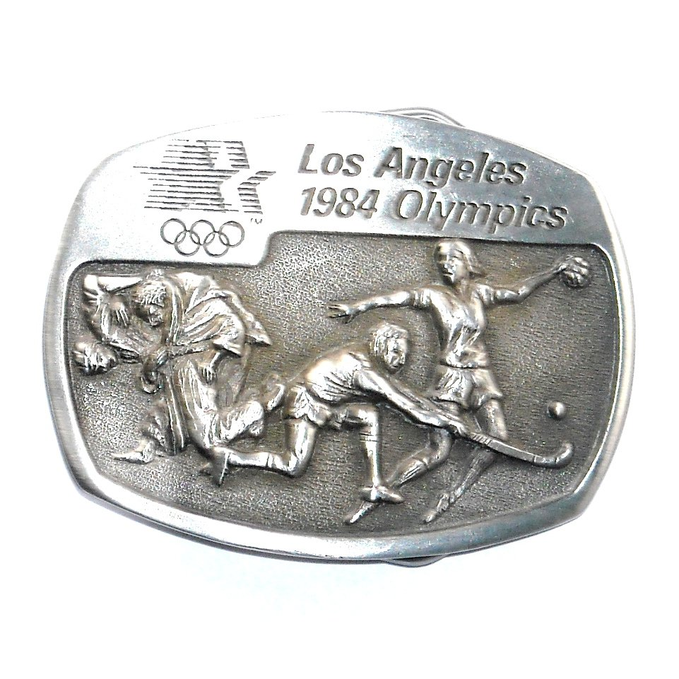 Judo Field Hockey Sport Los Angeles 1984 Olympics Sanchez Pewter Belt Buckle