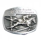 Fencing Equestrian Los Angeles 1984 Olympics Sanchez Pewter Belt Buckle