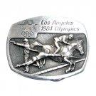 Fencing Equestrian Los Angeles 1984 Olympics Sanchez Pewter Belt Buckle