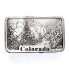 Colorado State Famous Mountains Indiana Metal Craft Pewter Classic Belt Buckle