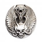 Bad Boys Wings Snake Skull Indiana Metal Craft Pewter Classic Belt Buckle