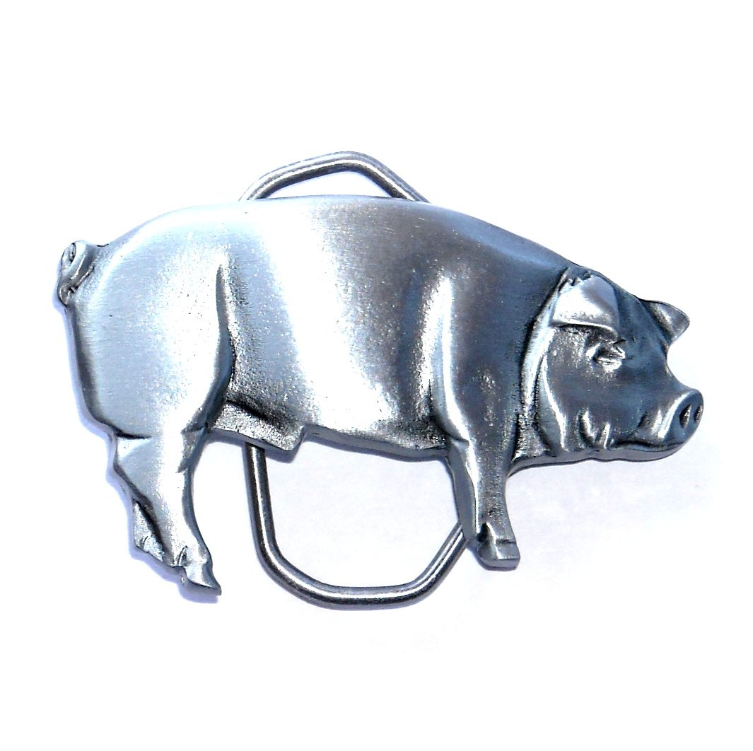 Big Hog Pig 3D Great American Western Belt Buckle