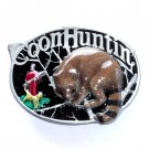 Raccoon Hunting Great American Color Belt Buckle