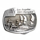 Water Sport Los Angeles 1984 Olympics Sanchez Pewter Belt Buckle
