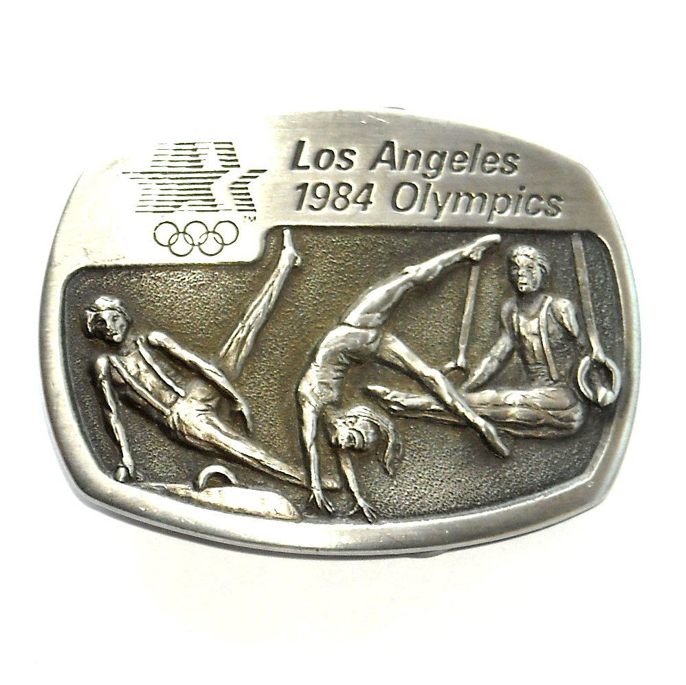 Gymnastics Los Angeles 1984 Olympics Sanchez Pewter Belt Buckle