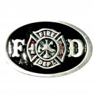 FD Shield Fire Department American Pewter Color NOS Belt Buckle